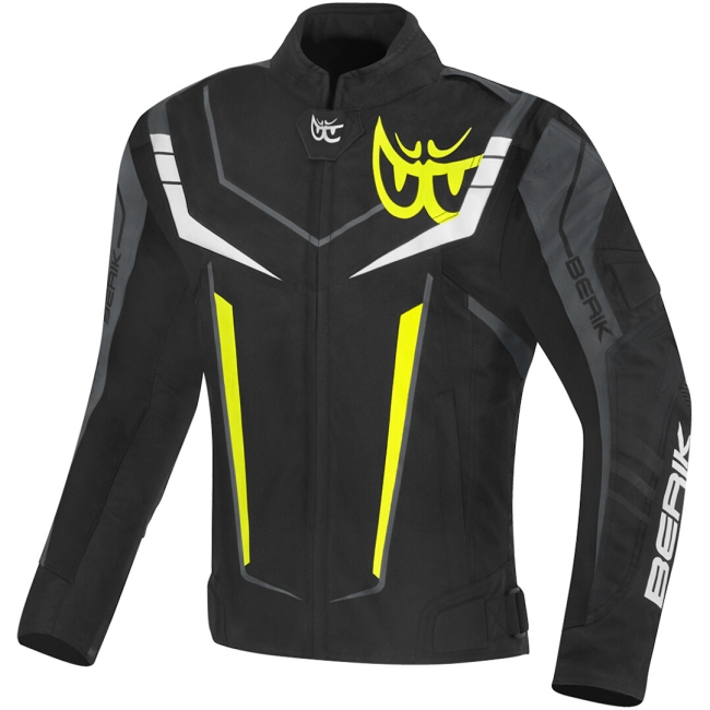 Текстилно мото яке Berik Radic Evo Plus черно/бяло/сиво/жълто