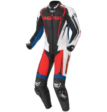 Мъжки кожен мото екип - две части Berik Race-X червено/синьо