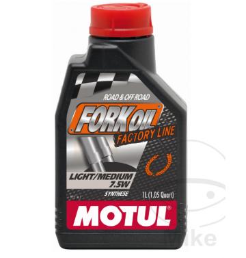 MOTUL масло за предница / вилка Factory Line Light / Medium 7.5W 1L синтетично