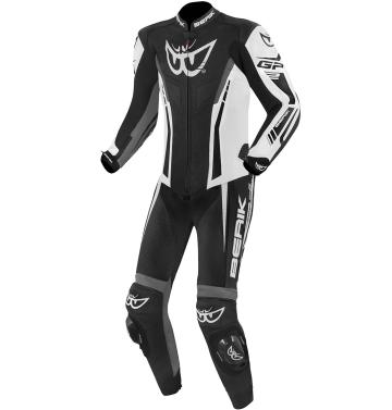Мъжки мото екип - цял Berik Monza сиво/черно
