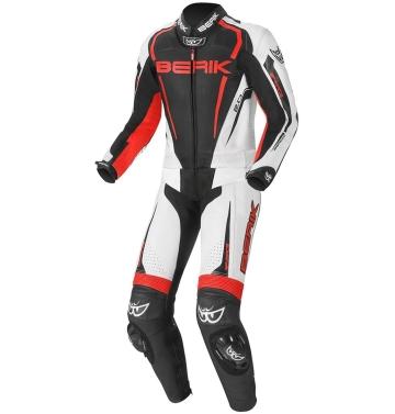 Мъжки кожен мото екип - две части Berik Race-X червено
