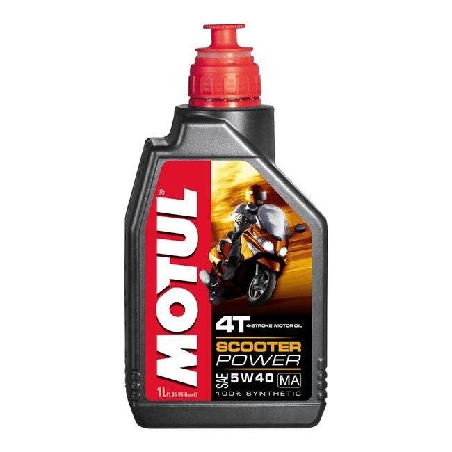 MOTUL двигателно масло 4T 5W40 1L Scooter Power синтетично