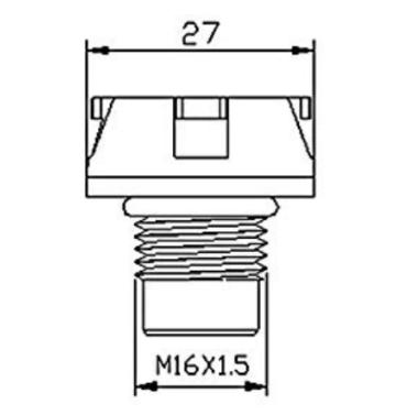 Hi-Tech Plug капачка за маслото KTM