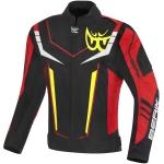 Текстилно мото яке Berik Radic Evo Plus черно/бяло/червено/жълто