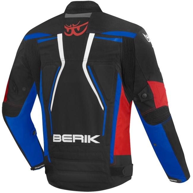 Текстилно мото яке Berik Radic Evo Plus черно/бяло/сиво/червено