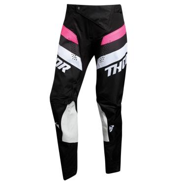 Кросов панталон - дамски Thor Pulse Racer черно/розово