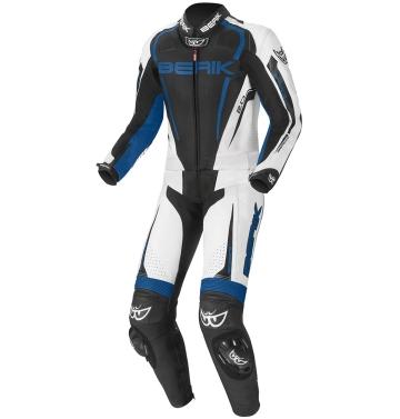 Мъжки кожен мото екип - две части Berik Race-X синьо