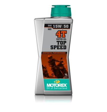 Motorex двигателно масло Top Speed 15W50 4T 1L - синтетично