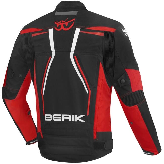 Текстилно мото яке Berik Radic Evo Plus черно/бяло/червено